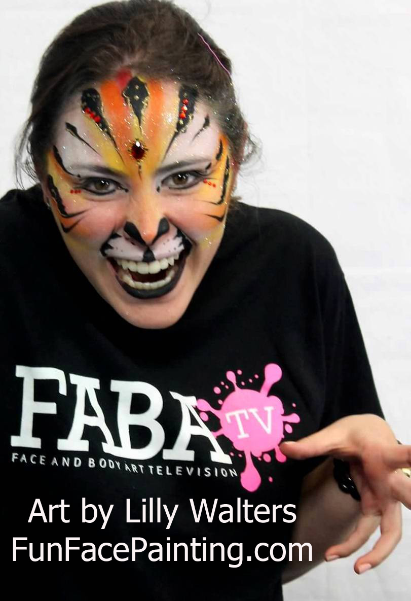 Advanced Face Painting Class Cats, Tigers, Cheetahs, Dogs