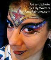 Face Painter for Super Hero Parties
