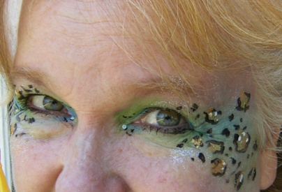 Lilly Walters Schermerhorn, face painter in Claremont, California