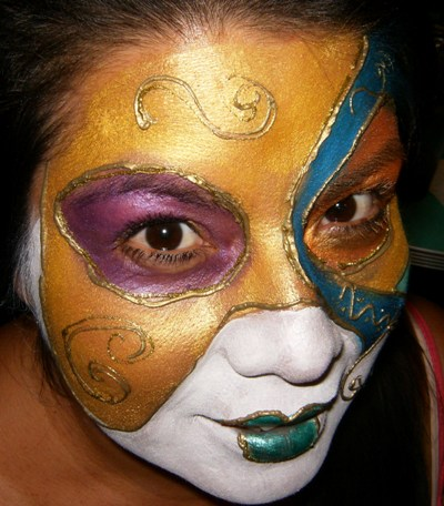 Venitian Masks for Margi Gras and Masquerade Face Painting In Claremont, La Verne, San Dimas, Upland, Montclair, Glendora
