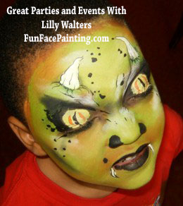 face painting face painter Superheroes and Villians children parties business events