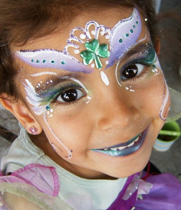 Saint Patrick's Day Face Painting and Glamour make-up by in Claremont, La Verne, San Dimas and Upland for Meetings, Business Events, and Parties